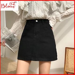 Chân váy chữ a lưng cao thời trang HQ cao cấp Chân váy chữ a jean nữ YUKIBLOOM Tặng quà ngẫu nhiên CVJ02