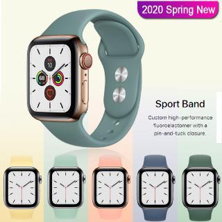 Dây Đeo Thay Thế Bằng Silicon Đủ Màu Cho Apple Watch Series 5/4/3/2/1 38mm/40mm/42mm/44mm
