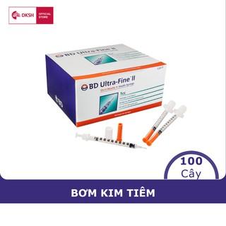 Bơm tiêm insulin BD Ultra-FineTM 8mm, 0.5cc 30G dành cho người điều trị tiểu đường, hộp 100 cây thumbnail