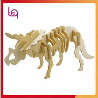 Bộ Ghép Xương Khủng Long Triceratops 3D