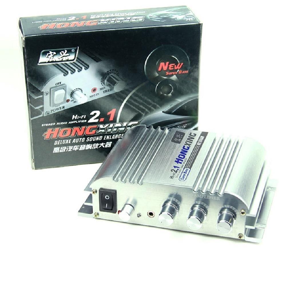 Ampli Mini 12V Hifi 2.1 độ xe nghe nhạc cực hay HX-168AH -dc2183