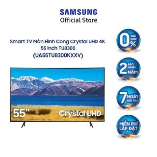Smart Tivi Samsung Màn Hình Cong Crystal UHD 4K 55 inch UA55TU8300KXXV – Miễn phí lắp đặt