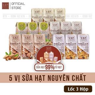 SALE Sữa Hạt nguyên chất 137 Degrees – Lốc 3 hộp 180ml