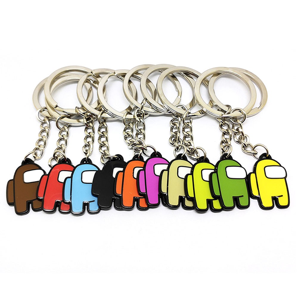 Among Us Game Peripheral Keychain New Cartoon Gifts for Boys and Girls