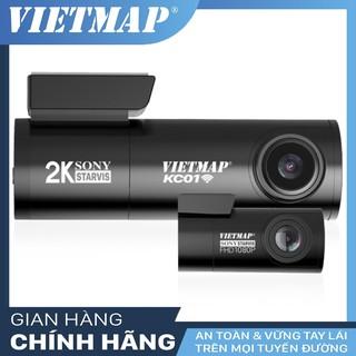 { TONGVIETM- giảm 150} Camera hành trình Vietmap KC01 Ghi hình cam trước SUPER HD (2K)-Cam Sau FULL HD -Tặng kèm thẻ 32G