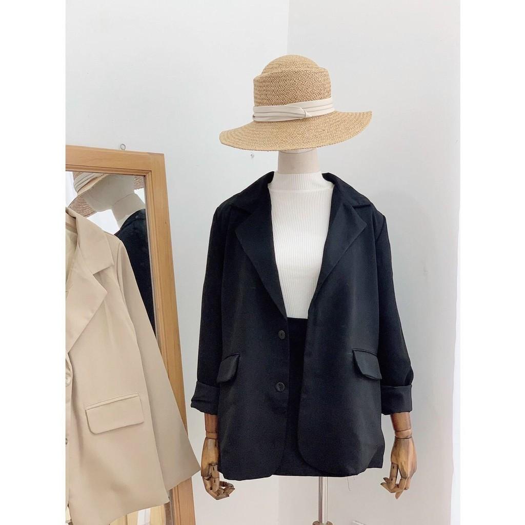 Mặc gì đẹp: Xinh tươi với [Mã 1010FASHIONSALE7711 giảm 10K đơn 50K] Áo Blazer Nữ Hàn Quốc Vest 2 Lớp Chuẩn Công Sở