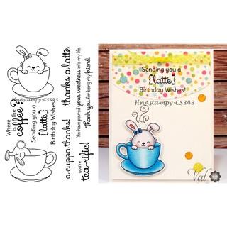 HnAstampy-CS343 con dấu trong suốt clear stamp dùng làm thiệp thủ công handmade scrapbook bộ thỏ tearific