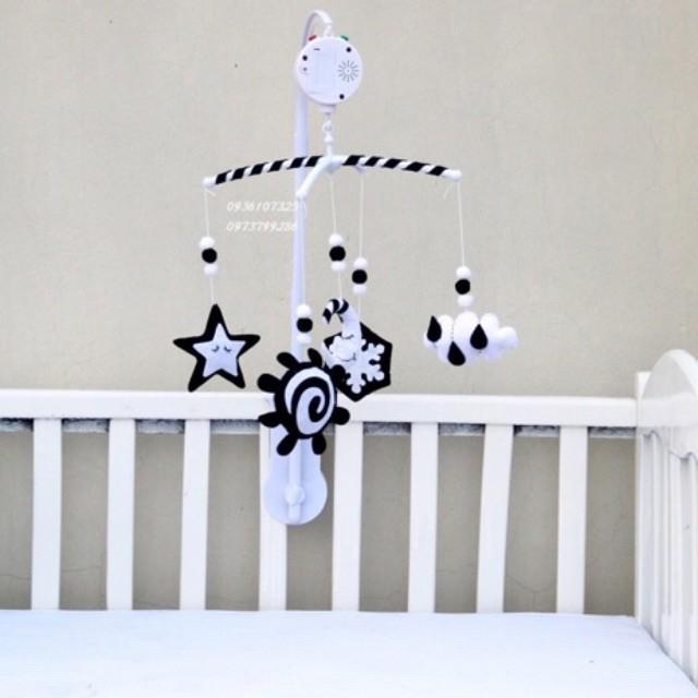 váy ▤✎■Treo nôi đen trắng hình hoa tuyết