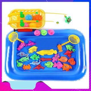 Đồ Chơi – Bộ đồ chơi câu cá kèm bể phao cho bé ( 21 con vật) – Đồ Chơi