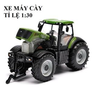 Đồ chơi nông trại mô hình xe máy kéo tỉ lệ 1:30 có âm thanh động cơ đồ chơi trẻ em