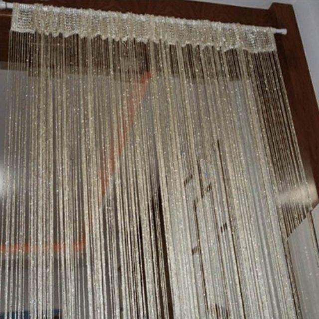 Rèm sợi đính kim tuyến