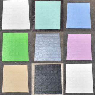 10 tấm Xốp dán tường giả gạch 3d khổ lớn 70x77cm , chống ồn , cách âm tốt
