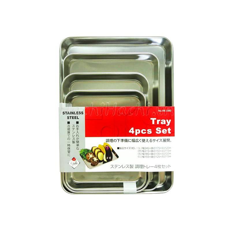 Bộ khay đựng inox 4 cái - 2908350 , 1164012407 , 322_1164012407 , 172000 , Bo-khay-dung-inox-4-cai-322_1164012407 , shopee.vn , Bộ khay đựng inox 4 cái