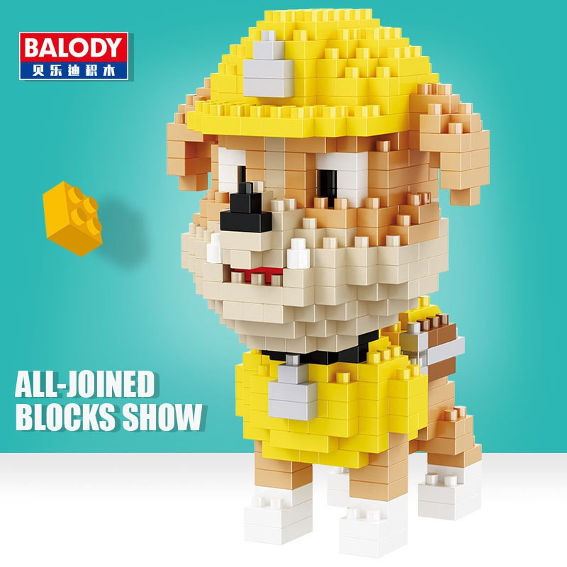 Bộ xếp hình Lego BALODY đội chó cứu hộ 18038 NLG0062-38