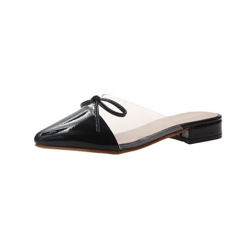 Giày SỤC MICA ĐÍNH NƠ MŨI NHỌN
