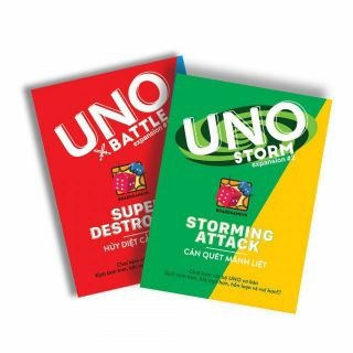 [GIÁ HỦY DIỆT] COMBO Uno Bản Mở Rộng #1 Uno Storm #2 Uno Expansion