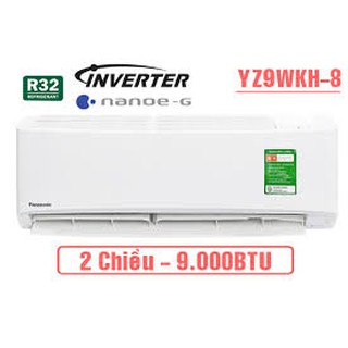 Điều hòa 2 chiều Panasonic Inverter 9000 btu CU/CS-YZ9WKH-8