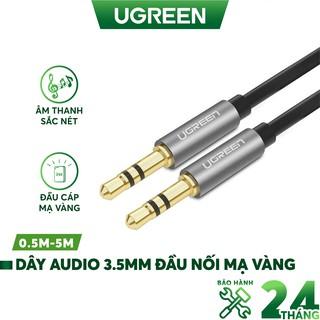 Dây Audio 3.5mm tròn mạ vàng 24K, TPE cao cấp UGREEN AV119