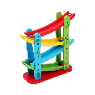 Đồ chơi gỗ băng trượt ô tô zic zac 4 tầng kèm 4 ô tô Kagonk - Phát triển kĩ năng sáng tạo cho bé