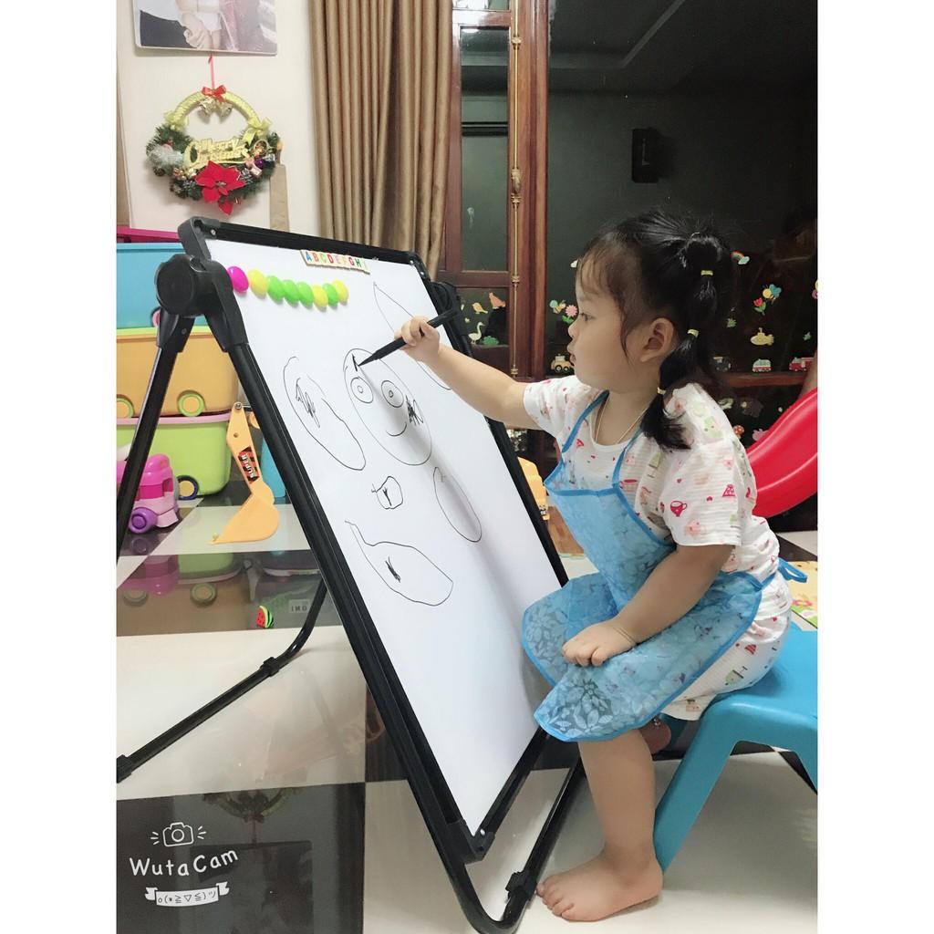 Bảng vẽ trẻ em hai mặt có từ tính, xoá dễ dàng, không bám bụi