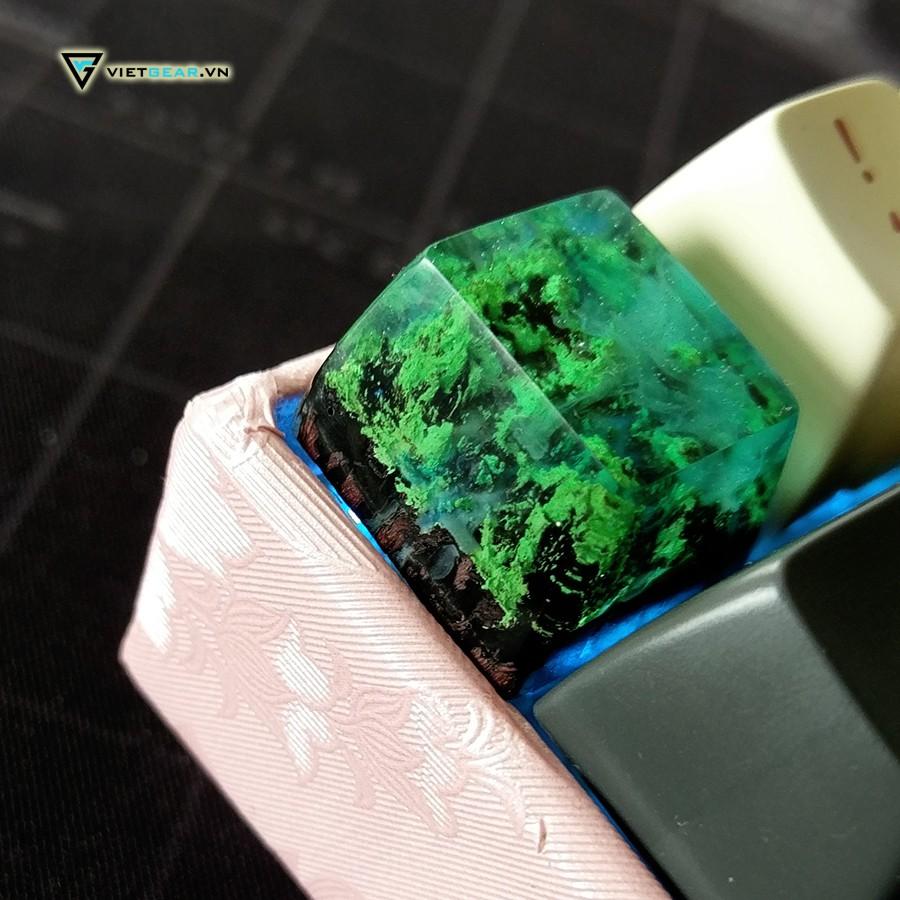Nút bàn phím keycap handmade Oldwood, keycap artisan