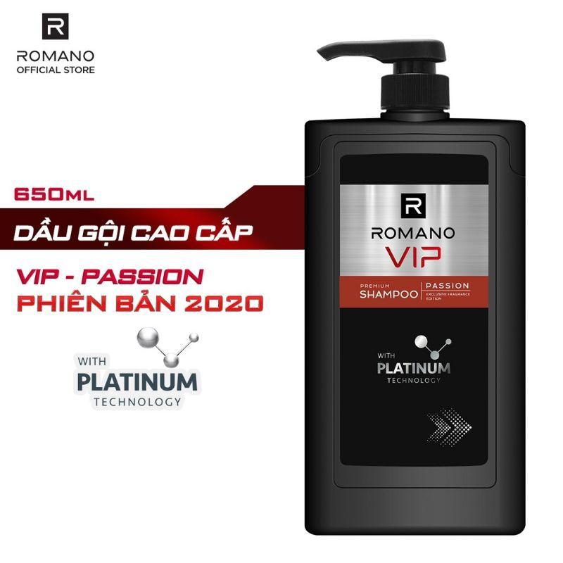 ROMANO - DẦU GỘI/SỮA TẮM VIP PASSION 650G (LỰA CHỌN)
