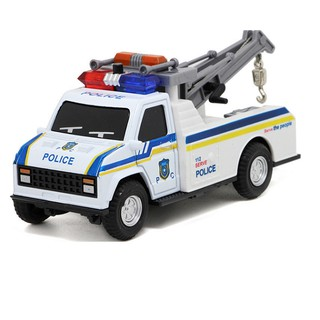 Xe cảnh sát cứu hộ bằng sắt đồ chơi trẻ em có âm thanh và đèn