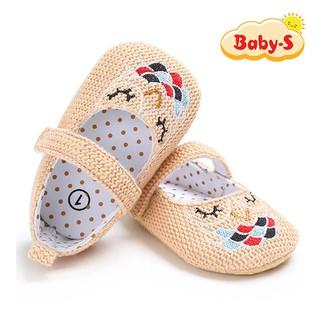 Giày tập đi cho bé gái từ 0 18 tháng tuổi chất vải mềm mịn êm chân hoạ tiết hình cú đơn giản đáng yêu Baby-S STD9 thumbnail