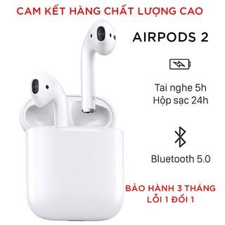 [ Airpods 2 ] Tai Nghe Airpods 2 Bluetooth 5.0 Bản 1562M, Hổ vằn Nguyên Seal – Pin 5H   Dùng cho cả android và ios