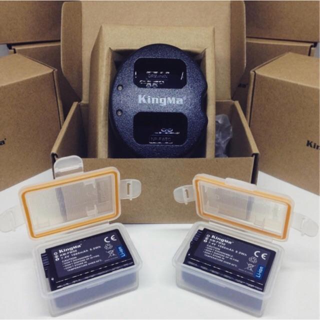 Pin+ sạc đôi NP-FW50 Sony - KINGMA,tặng hộp pin