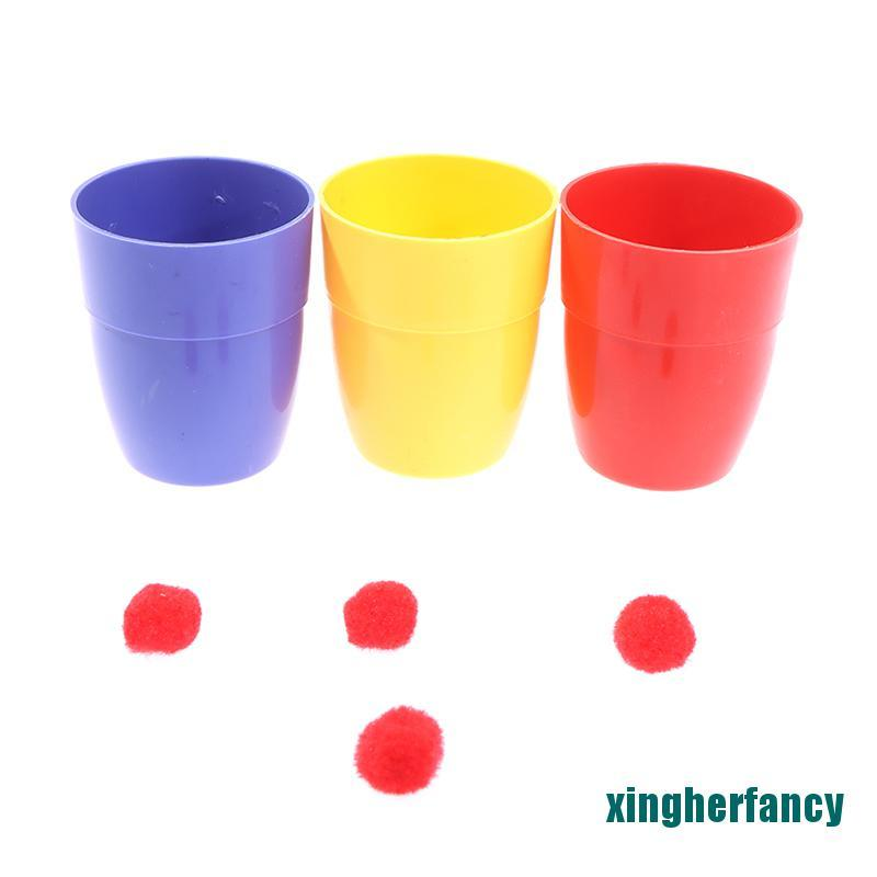 XYCC Three Cups And Balls Magic Tricks Many Size Close Up Stage Magic Props Toys XJSS