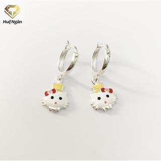 Bông tai Trẻ em bạc Ý 925 Huệ Ngân - Mèo kitty RYE141032 thumbnail