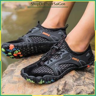 [Mã SKAMA8 giảm 8% đơn từ 300k] Giày Trekking Leo Núi Sports – Lội Nước – Đế Mỏng, Mềm – Thoát Nước Nhanh
