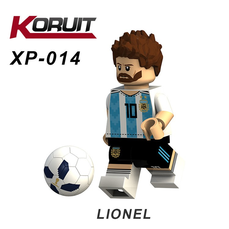 Minifigures Các Danh Thủ Bóng Đá Messi, Ronaldo, Beckham - MINI LEGO