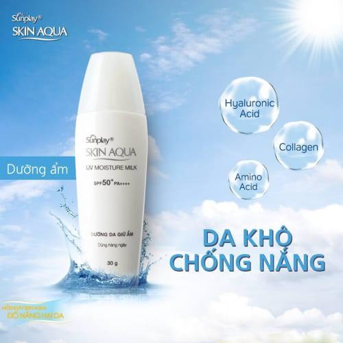 Sunplay Skin Aqua UV Moisture Milk SPF50+, PA++++ 70g -Sữa chống nắng dưỡng  da ẩm mịn | Shopee Việt Nam