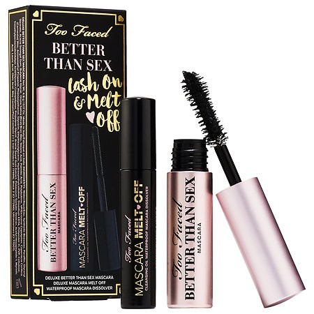 Set Chuốt mi Too Faced Better Than Sex Lash On & Melt Off Set