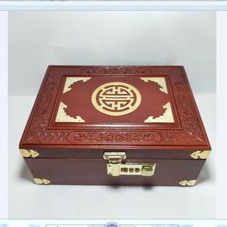 hộp đựng trang sức / nữ trang, để con dấu, bằng gỗ, mini có khóa số hàng cao cấp