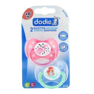 Bộ 2 ty giả silicon cao cấp Dodie cho bé gái từ 6 tháng trở lên - hàng nội địa Pháp