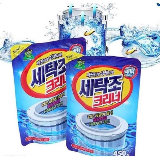 Bộ 2 Bột Vệ Sinh Lồng Máy Giặt Hàn Quốc 450g - 2953531 , 432960782 , 322_432960782 , 100000 , Bo-2-Bot-Ve-Sinh-Long-May-Giat-Han-Quoc-450g-322_432960782 , shopee.vn , Bộ 2 Bột Vệ Sinh Lồng Máy Giặt Hàn Quốc 450g
