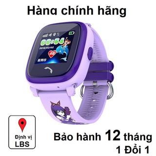 Đồng hồ thông minh trẻ em JVJ DF25 Tím, đồng hồ GPS, chống nước, lắp sim nghe goi hai chiều, BH 12 tháng