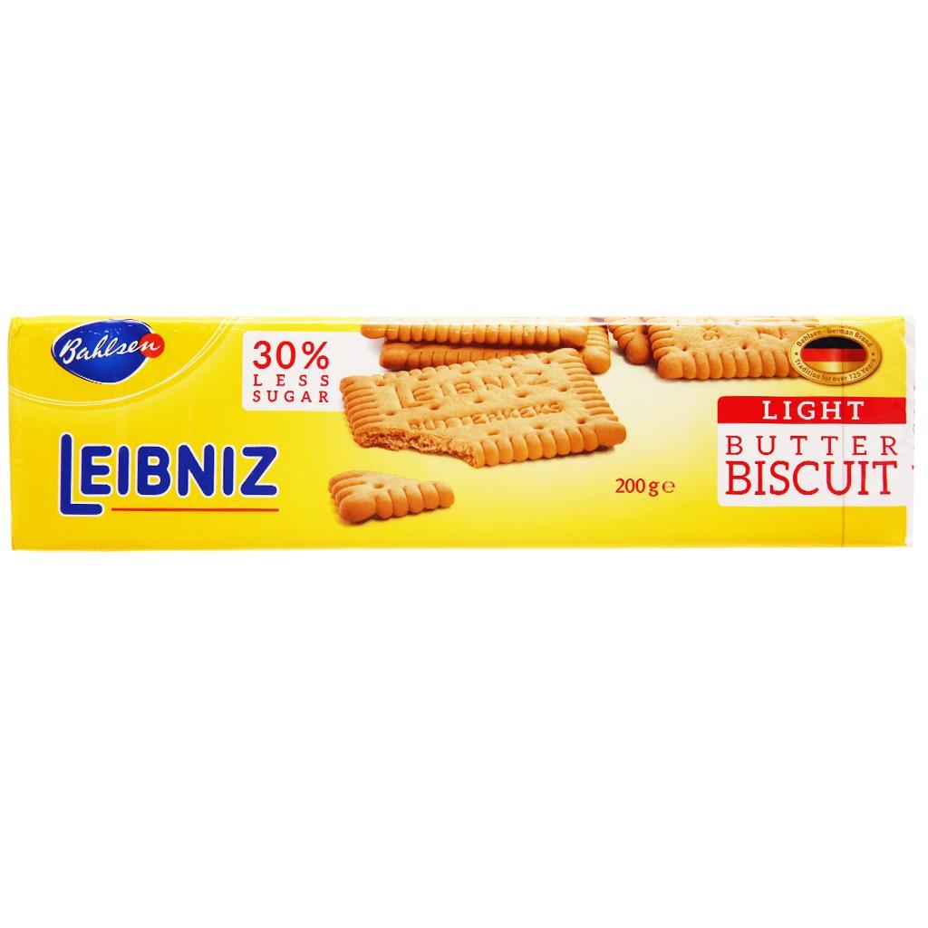 Bánh quy bơ ít đường nhập khẩu Đức Bahlsen Leibniz gói 200g