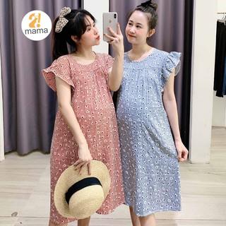 [Mã FAMALLT5 giảm 15% đơn 150k] Váy bầu thiết kế công sở mùa hè 2MAMA dáng suông thời trang dáng dài - V107 thumbnail