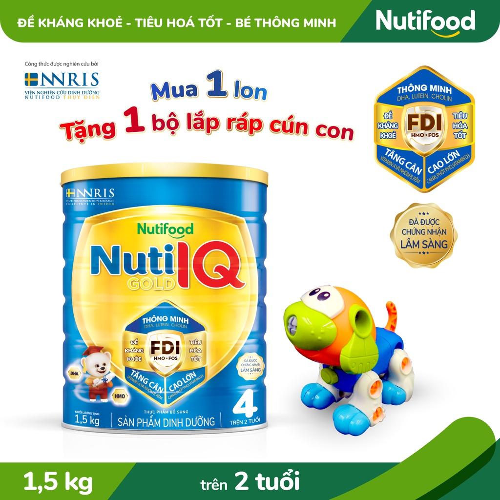 Sữa Bột Nuti IQ Gold 4 1.5kg/lon