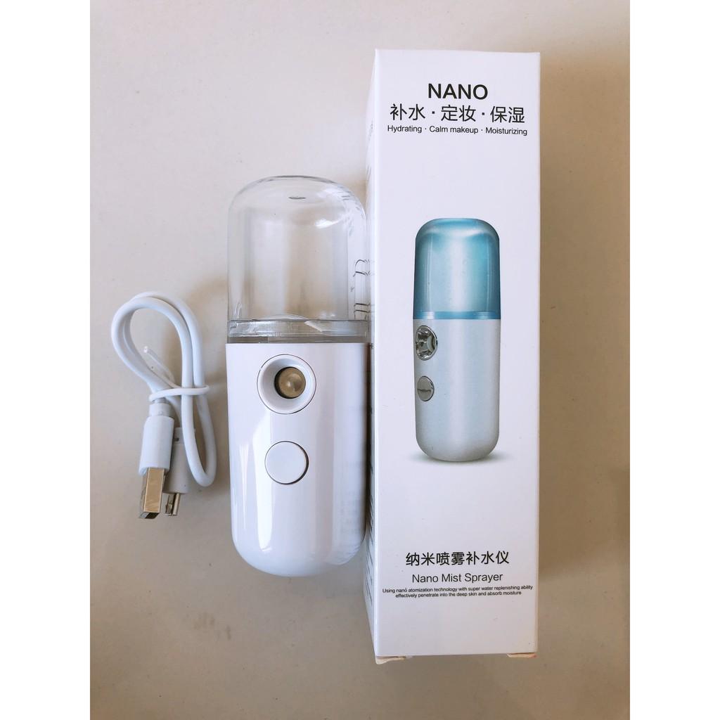 Máy phun sương tạo ẩm Nano mini-Giữ ẩm da, chống lão hoá, làm mát da cấp tốc