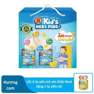 Nước Yến Trẻ Em Kidsnest Plus+ Hương Dâu 1 Lốc (6 lọ x 70ml)