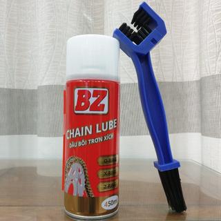 [Chính hãng] Chai Xịt Dưỡng Sên BZ CHAIN LUBE 450ml, chai bôi trơn bảo dưỡng sên BZ 450ml dạng tơ nhện bám dính thumbnail