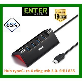 [Mã ELFLASH5 giảm 20K đơn 50K] HUB type-c – kết nối ra 4 cổng USB 3.0 – SHU835 cao cấp tặng kèm túi bảo vệ