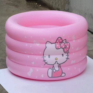 Bể bơi hình Kitty cho bé cao 50cm ( 4 khoang; TẶNG ĐÀN VỊT)