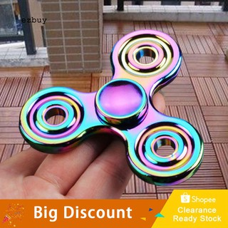 【Ready Stock】Rainbow EDC Hand Tri-Spinner Focus ADHD Autism Finger Adult Kid Desk Toy Gyro