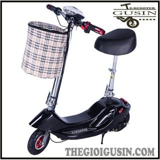 Xe Mini E-scooter Màu Đen / GuSin Phân Phối Chính Hãng Tp.HCM
